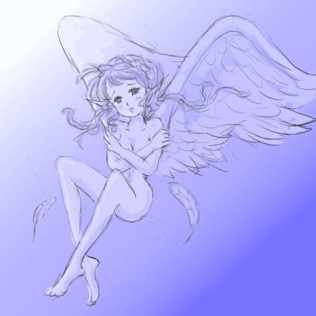 寒そうな天使
