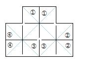 正四面体連鶴裁ち方図