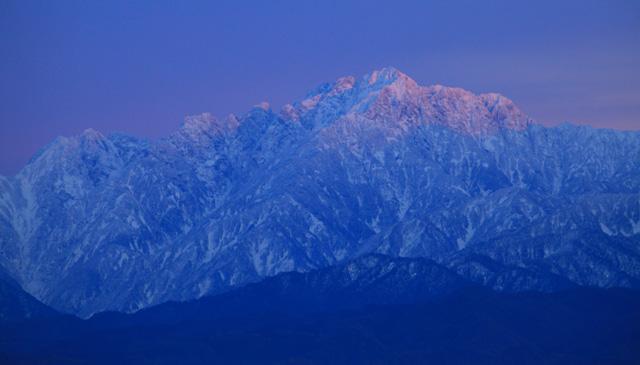 夕焼け剱岳