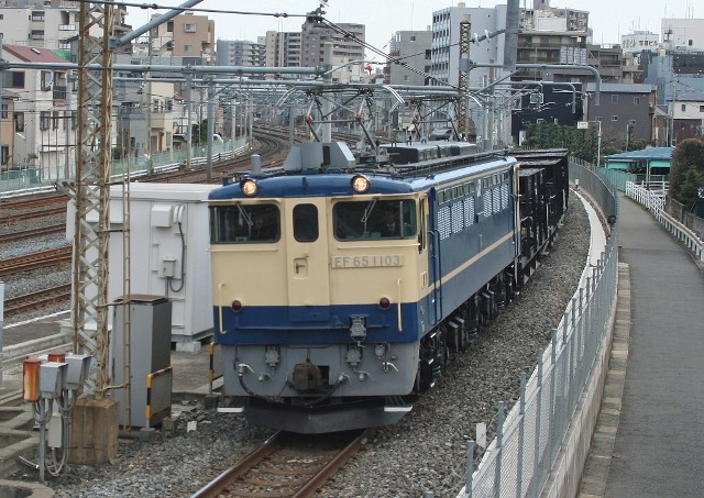 EF65-1103+ホキ4両 配9527レ