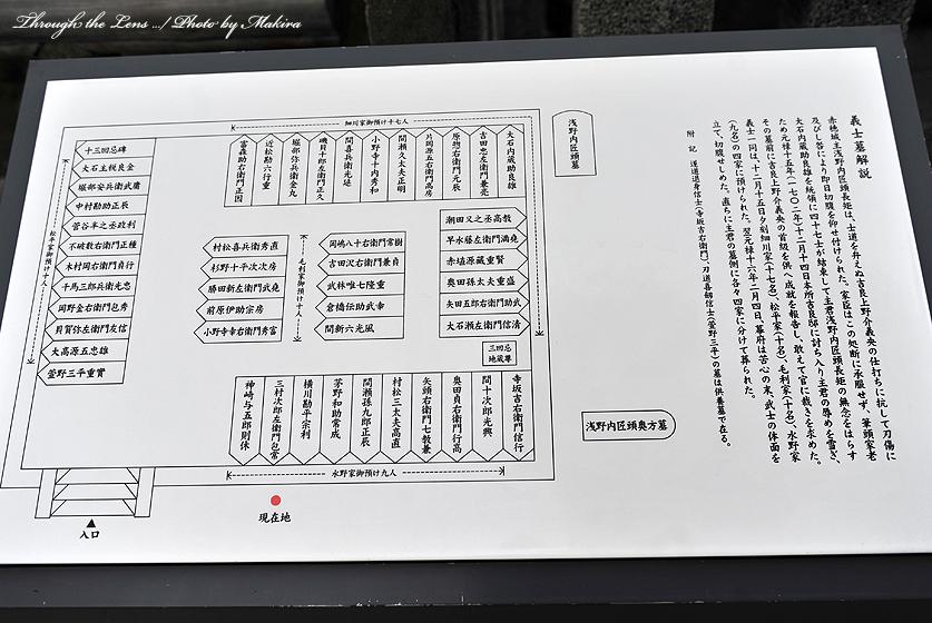 四十七士墓所配置図