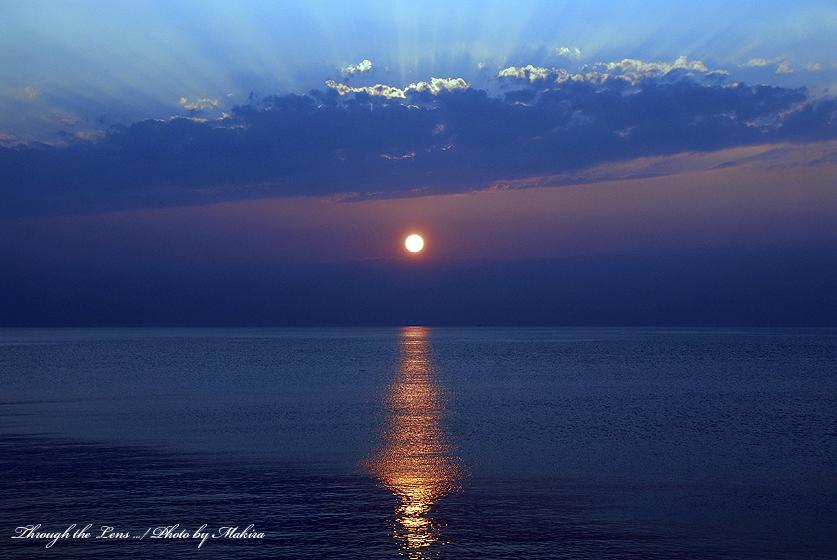 上越海岸日没20061105