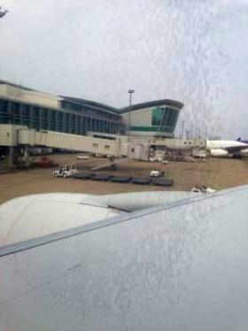福岡空港からソウルへ。
