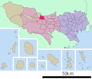 武蔵村山市の位置