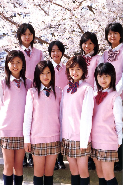 熊井友理奈 須藤 Berryz工房 桜 PINKのベスト 制服コレクション 茶色系のCHECKのスカート