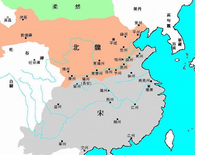 南朝宋の地図
