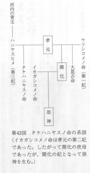 タケハニヤス系図