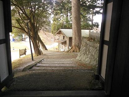 南三陸 ばっかり茶家 受付階段