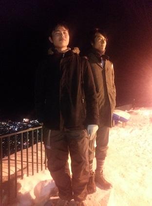 山頂でジャケット撮影