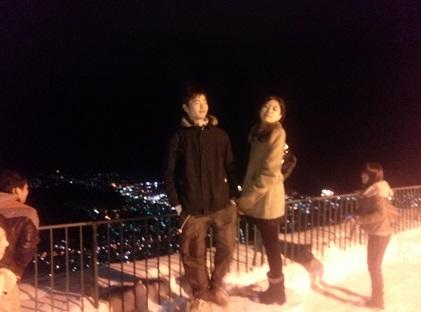 山頂でジャケット撮影その2