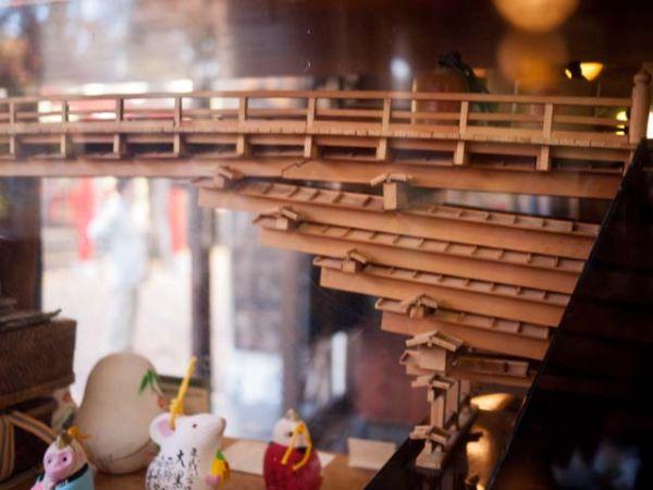 大月 大黒屋 猿橋の模型