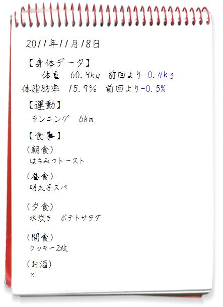 2011.11.17ダイエット日記