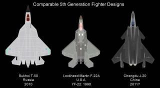 J-20と他機種との大きさ比較①
