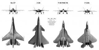 J-20と他機種との大きさ比較②