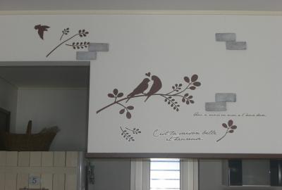 022_壁の鳥