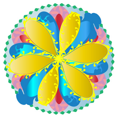 まるまるの【八王子のパワーストーンスクール&ショップでWebデザイン日記】格安ホームページ制作・パワーストーン*デザイナー養成講座-マンダラっぽい花
