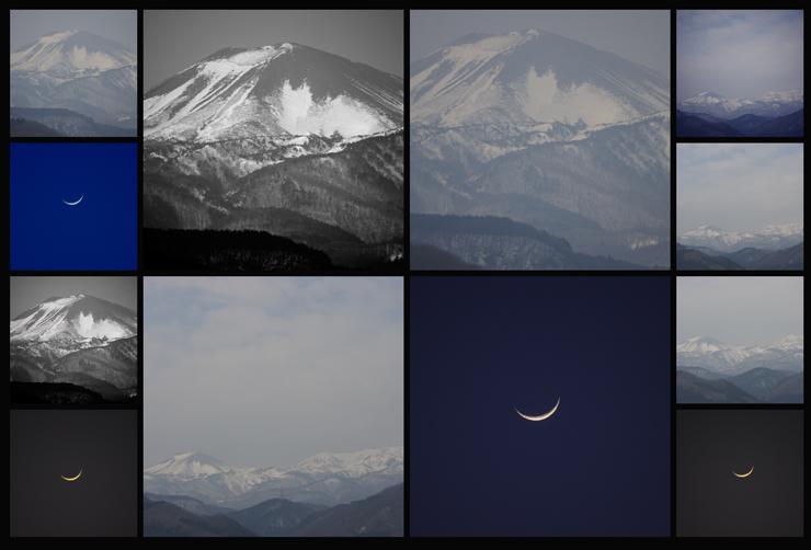 2014.02.02 本日の山と月。