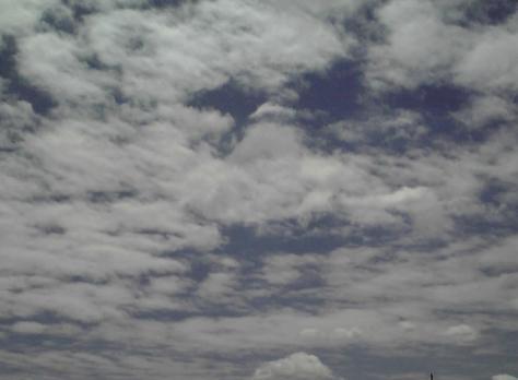 120610個展最終日の空