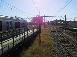 121104高麗川駅ホームからの線路