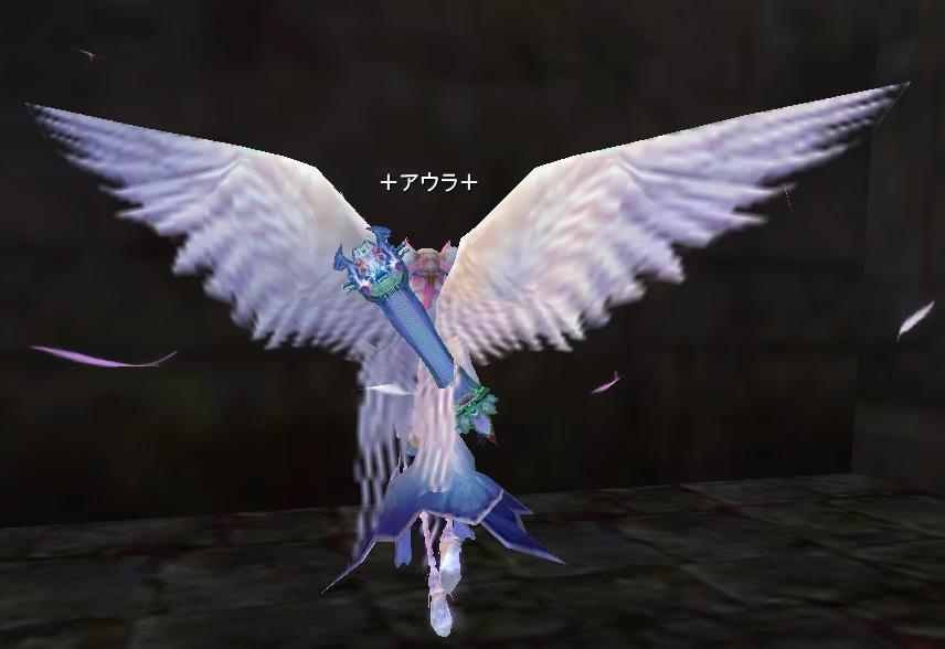 天使アバターの後ろ