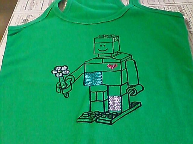 ロボットのデザインTシャツ