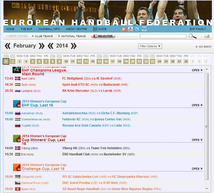 SnapCrab_European Handball Federation - 2014 Events_2014-1-26_1-43-1_No-00