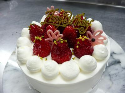 イチゴdeバスデーケーキ