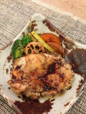 鶏もも肉のソテーバルサミコソース-1