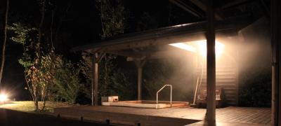 静かな夜の露天風呂♪