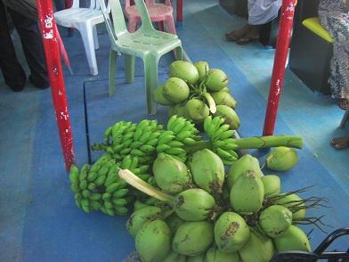 ココナッツとバナナ