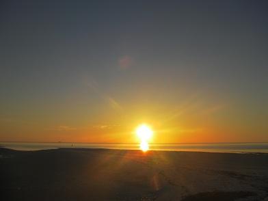 南サイドの夕日
