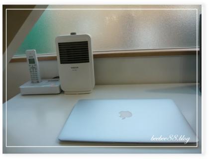 PCコーナーの暖房器具