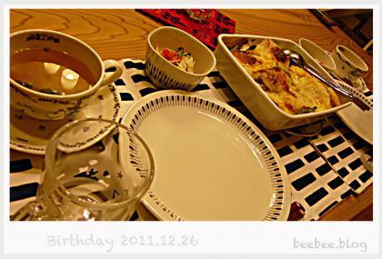 誕生日晩ご飯