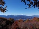 陣馬山から見る富士山
