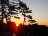 一丁平で日の出を迎える