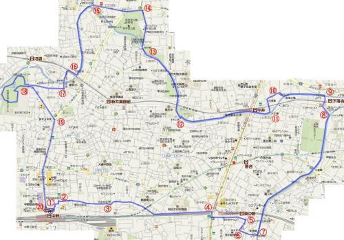 中野ジョギングコース 10km