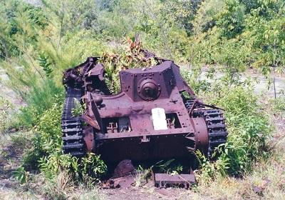 ペリリュウ島の戦車