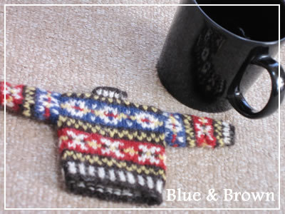 Blue & Brown~knitting life~