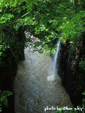 展望台から見た「真名井の滝」