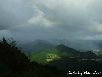 国見ヶ丘からの虹
