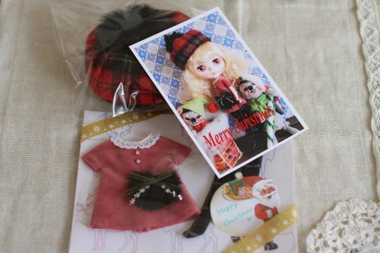 ブライス・クリスマスワンピ1