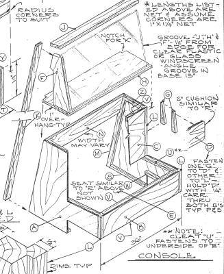 boat bench seat plans