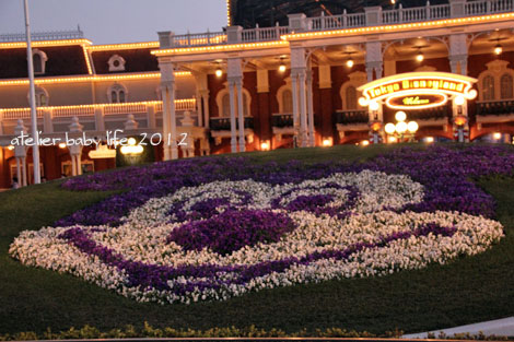 入口のお花ミッキー2012年1月
