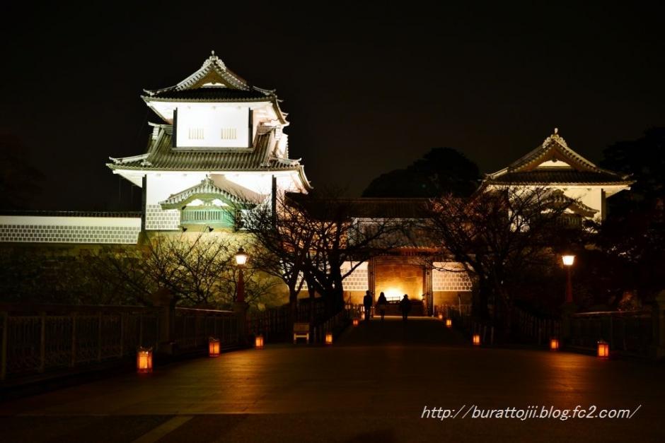5.2013.11.24金沢城ライトアップ