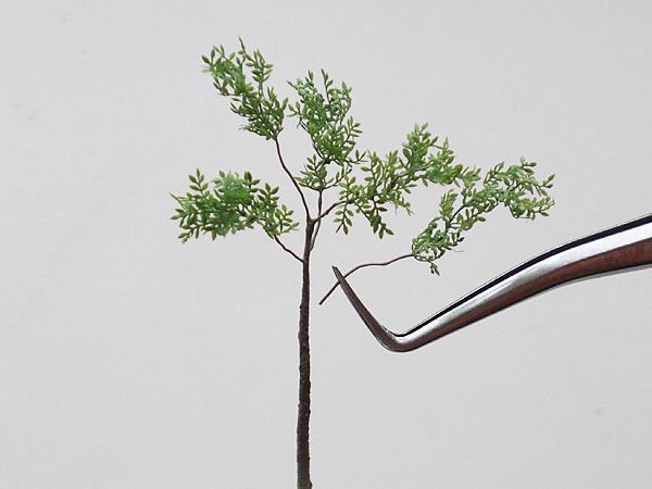 ジオラマアクセサリー用樹木製作パーツ【緑豊かな樹木】使用例3