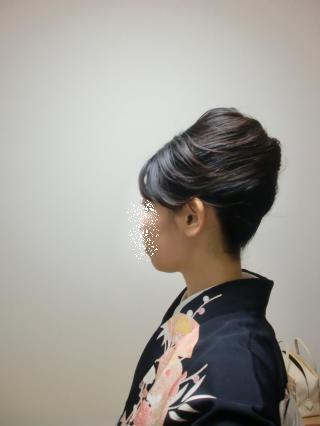 2012初釜 夜会巻き