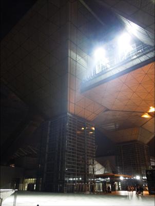 片付け後の東京ビッグサイト