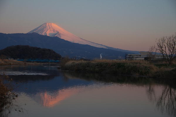 大平小山 狩野川の富士山