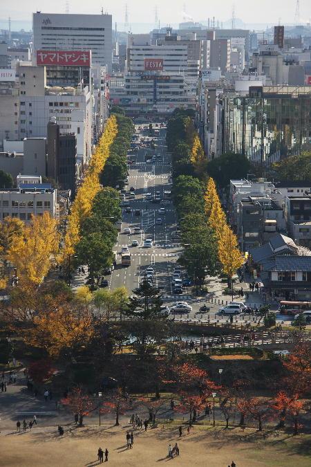 IMG_4499.jpg 天守閣から見た駅通り-499-4444.jpg