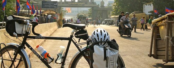 自転車 カンボジア国境